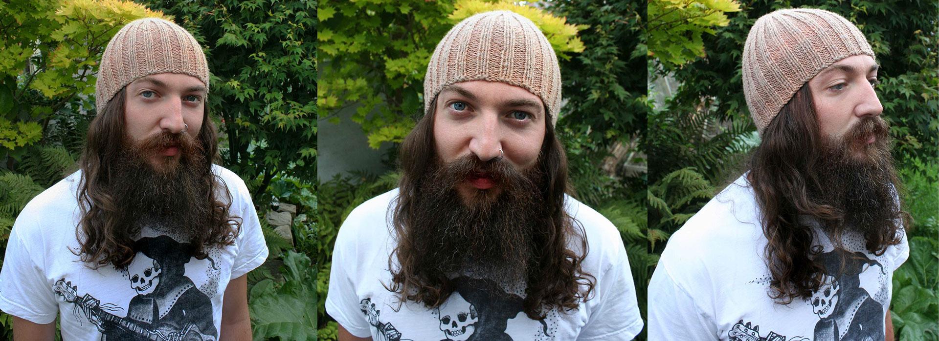 ManKnit Mens FREE Ribtastic Aran Beanie Hat Knitting Pattern